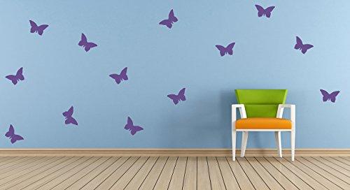 20 x Adhesivos en vinilo con forma de mariposa, calcomanía, mural. Dormitorio,...