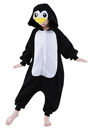 CANASOUR Christmas Costumes Anime Cosplay Animal Kids One Piece Pajamas (8(115#), Penguin Black)