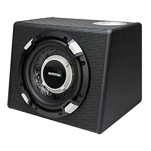 Autotek SSW110A Super Sport Powered Subwoofer (Enclosed, Black) – 10 Inch Powered Subwoofer System, 600 Watt, Amplifier Inputs, Voltage inputs, Bass Boost, Auto-On