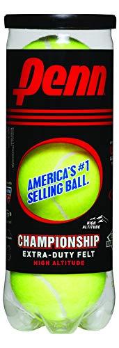 Penn Championship High Altitude Tennis Balls - Extra Duty Felt Pressurized Tennis Balls, 1 Can,...