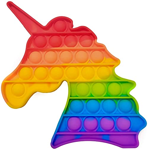 POP IT - Juguete Antiestres - Fidget Toy Silicona Sensorial - Juego Entretenimiento para Aliviar el Estres - Juguetes Educativos para Niños y Adultos - Pop Bubble Sensory Toy - Unicornio Multicolor