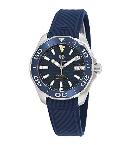 Tag Heuer Aquaracer Calibre 5 automático azul Dial reloj para hombre WAY201B.FT6150