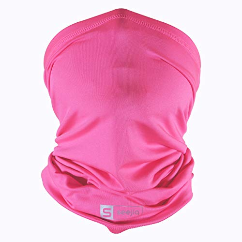 Seejiq UPF 50 Cooling Neck Gaiter Bandana Gators Face Mask Face Coverings for Men, Women and Youth Neon Pink