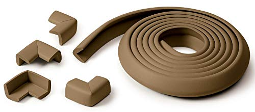 Prince Lionheart Table Edge Guard with 4 Corners, Chocolate Color : Chocolate Size : Table Edge Guard & 4 Corners