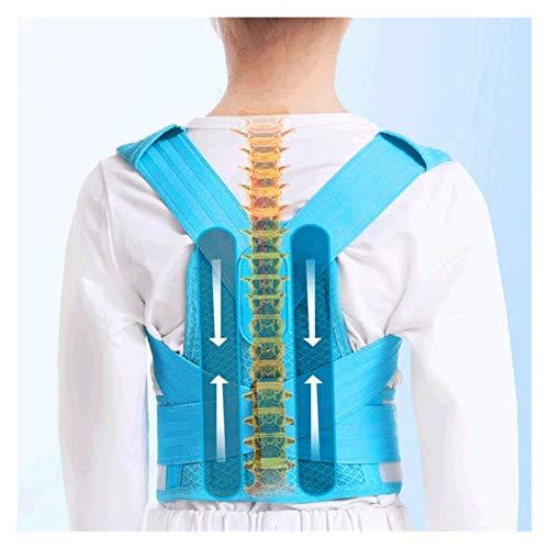 ZHJKK Niños Ajustables Postura Corrector Trasero Cinturón de Soporte para niños Corsé ortopédico para niños Espalda Espalda Lumbar Hombro Sujetadores Salud (Color : Blue (1 Piece), Size : L)