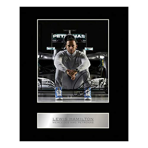 Lewis Hamilton Signed Mounted Photo Display Mercedes #3 Autographed Gift Picture Print