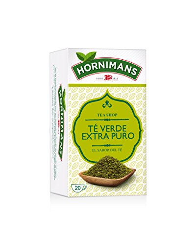 Hornimans Te Verde - Teverde Bolsitas De Te Puro Tea Shop, 20 x 1,5 g