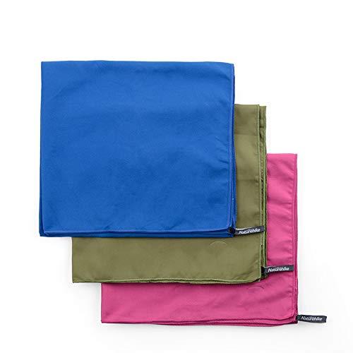 Vlook 3pcs tragbare Multifunktions-Mikrofaser schnell trocknende Handtuch, weich und komfortabel, leicht, antimikrobiell, für Reisen Camping Strand Schwimmen