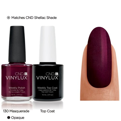 CND Vinylux Duo Top Coat Plus Smalto per Unghie, Masquerade - Confezione da 2 x 15 ml