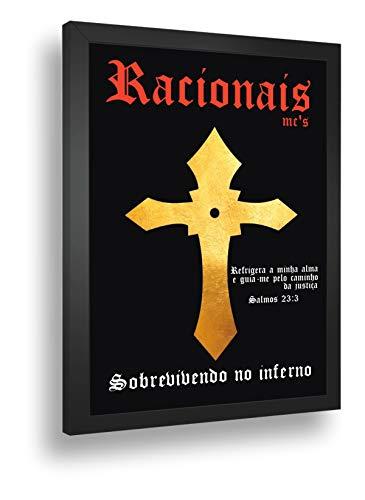 Quadro Decorativo Poste Racionais Sobrevivendo No Inferno