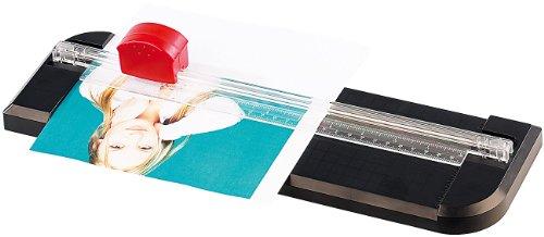 General Office Papier Schneiden: 3in1-Rollen-Schneidemaschine A4 mit 3 Klingenformen (Papierschneidemaschine)
