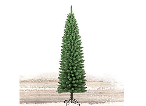pe-raga Albero di Natale Abete Ecologico Verde Slim Penicel 210 cm PVC folto 442 rametti