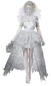 California Costumes Women s Ghostly Bride Adult Grey Small