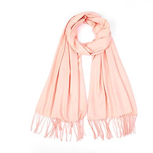 Chales grandes de seda larga bufanda de 70 x 180 cm con flecos para cualquier estación, boda, fiesta de novia