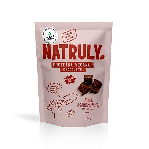 NATRULY Proteine Vegane BIO Cioccolato, 81% di Proteine, Zucchero, Senza Glutine, Senza Lattosio...