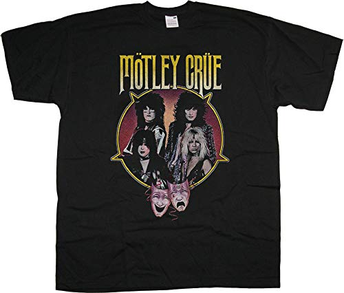 Motley Crue Theatre of Pain Profile Nikki Sixx Oficial Camiseta para Hombre