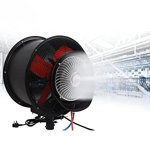 YUYI Climatizadores evaporativos Ventilador de Niebla centrífuga portátil de 110V, Ventilador oscilante de Montaje en Pared con Tanque de Agua 10L, refrigeración/pulverización/Polvo/humidificac