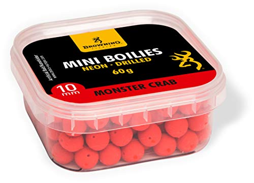 Browning Mini Boilie Neon, gebohrt rot Monster Crab Ø10mm 60g, 10 mm