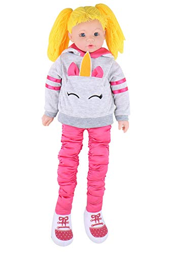 """Stretch Doll Bendable Plush Doll, 24"""" Tall - Fun, Dancing Toys Pre-Kindergarten Toy for Babies,for Girls Kids Gift (Rose)"""