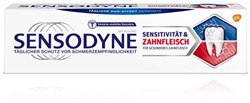 Sensodyne Sensitivität & Zahnfleisch, Tägliche Zahnpasta mit Fluorid, 1x75ml, bei schmerzempfindlichen Zähnen
