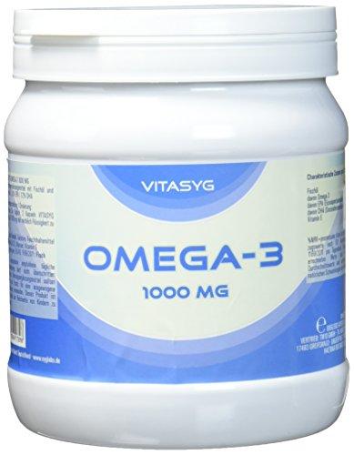 Vitasyg Omega 3 Fischöl Kapseln 1000 mg 18 prozent EPA, 12 prozent DHA - 500 Kapseln, 1er Pack (1 x 685 g)