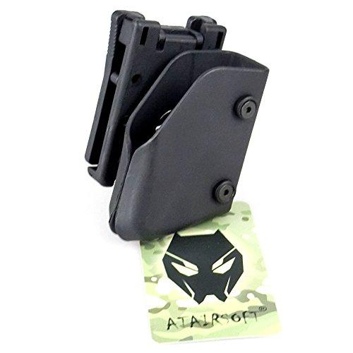 Worldshopping4U Tactical Airsoft Outdoor Multiángulo velocidad cinturón Pistola Bolsa de la revista IPSC Competencia Kit de caza Adecuado para IPSC (TB971-BK)