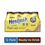 NESQUIK Chocolate Low Fat Milk   Protein Drink   12 Bottles of Ready to Drink Chocolate Milk
