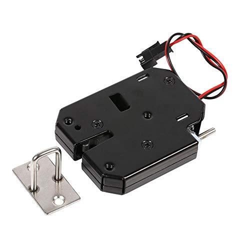 Elektrisches Schloss, 12V elektronisches Schrankschloss aus Kohlenstoffstahl, Schubladenschloss für Kühlschränke, Post- oder Zeitungskästen