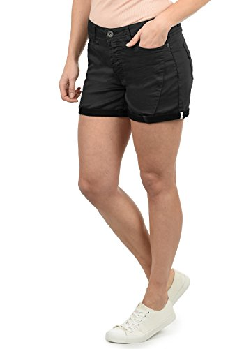 DESIRES Elja Damen Jeans Shorts Kurze Denim Hose Boyfriend-Shorts Aus Stretch-Material Loose Fit, Größe:38, Farbe:Black (9000)