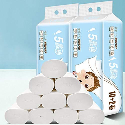 12 Rollen Toiletpapier 1 Lift 12 Rollen Papier Coreless Webhanddoeken Toiletpapier Keuken Huishoudelijk Hout Rolpapier Weefsels, China