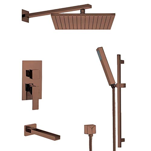 Great Deal! Nameeks TSR9516 Remer Shower Tub and Shower Trim Package with Single Function Ra, Oil Br...