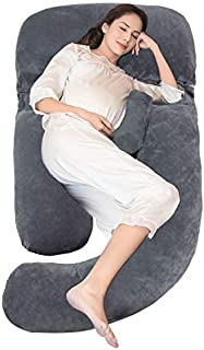 Onory Full Body Pregnancy Pillow U-shaped Maternity Pillow Removable Velvet Cover for Sleeping with Nursing Baby Design Support for Back Belly Hips Legs