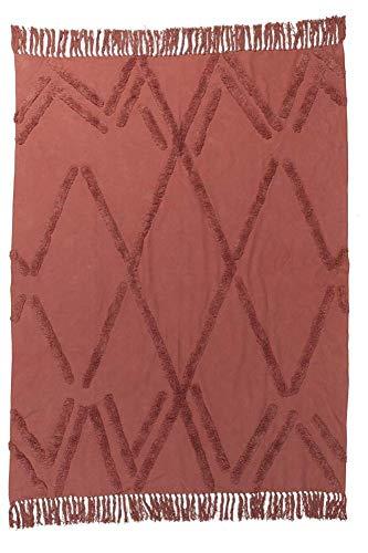 KAAT Amsterdam Farbe Regan Farbe Terra Größe 130x170cm Decke Überwurf Tagesdecke