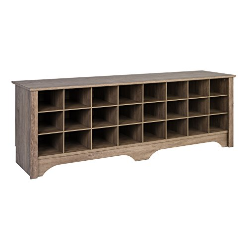 Prepac 24-Pair Capacity Shoe Storage Cubby Bench, 4 Colors - $156.99 Each