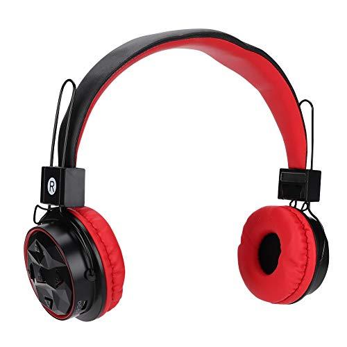 headset, draagbare draadloze bluetooth-hoofdtelefoon B-15 FM-audiomusiek-weergavekoptelefoon, ondersteuningsfunctie, handsfree bellen, automatische zoekfunctie voor FM-zoeken, enz, rood
