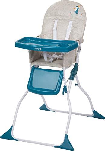 Safety 1st Chaise Haute pour bébé Keeny Compacte et Pliable, Nettoyage Facile Happy Day