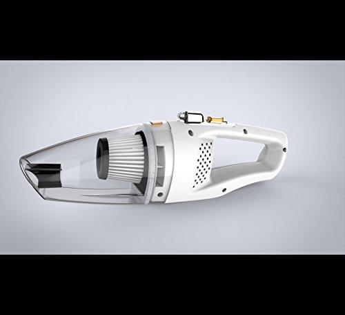 LNLZ Wet and Dry 120w Voiture aspirateur Haute Puissance Mini Portable Voiture Double Usage Portable, Blanc, Filaire