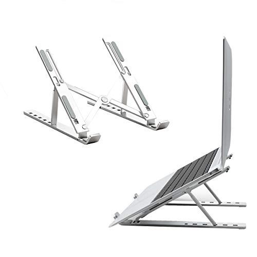 FAM STICKTILES Laptop Ständer Faltbarer, Verstellbare Universale Laptop Halterung Tragbarer Notebook Stand für Alle 10-15,6 Zoll Laptops Tablet