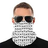 SVDziAeo Secuencia de ADN Nasculi: el código genético a Prueba de Polvo a Prueba de Viento Cara Bandana Protección Variedad Pañuelo en la Cabeza Unisex