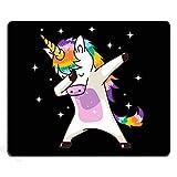 SSOIU Funny Unicorn Gaming Mouse Pad Custom,Unicorn Cute Dabbing Funny Dab Dance Mouse Pad