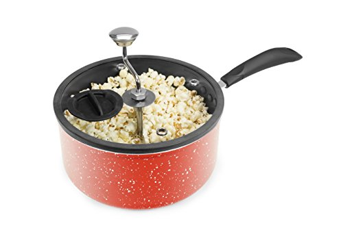 Best Buy! Zippy Pop 00038-01-ZIP Stovetop Popcorn Popper with Glass Silicone Rimmed Lid, 5-1/2 quart...