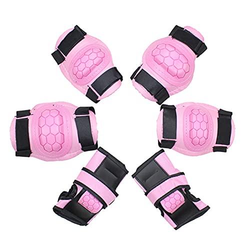 LFFME Kits De Protección para Rodilleras Niños - 6 En 1 De Rodilleras para Protectores Rodilleras Codos Muñecas,Equipo De Seguridad para Niños,Almohadilla De Protección para Patines