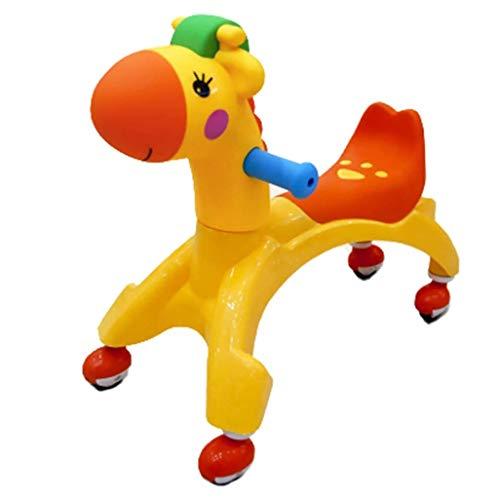 Find Discount PDGJG Kids Cartoon Twist Car 1-3 Years Old Baby Car Yo Car Mute Round Universal Wheel ...