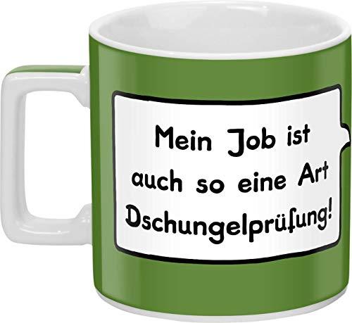 """Sheepworld 44061 Tasse """"Mein Job ist auch so eine Art Dschungelprüfung!"""""""