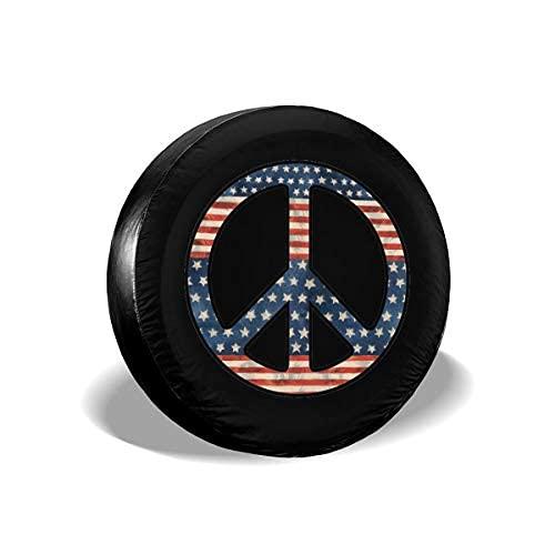 Qian Mu888 Peace - Cubierta de repuesto para neumáticos, resistente al agua, UV, para remolques, RV, SUV y muchos vehículos de 14 pulgadas
