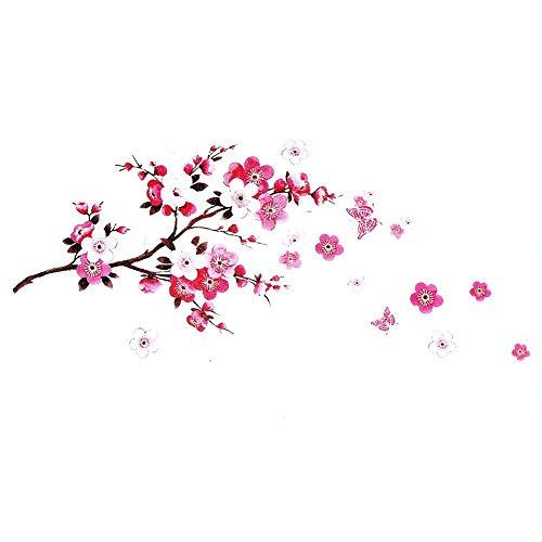 Adesivi murali fiori Sakura - Rimovibile fiore di ciliegio Ramo d\'albero decalcomanie Murales - Decorazioni per la casa fai da te Adesivi murali - Dracarys