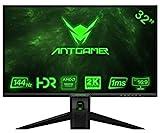 ANTGAMER Gaming M32G5Q 83,82 cm (32 Zoll) R1800 Curved Monitor (QHD, 1ms Reaktionszeit, HDMI,DVI,DisplayPort, 144 Hz, 2560x1440 Pixel, Free-Sync) schwarz