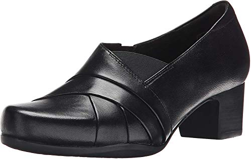Clarks Women's Rosalyn Adele, Black Leather, 10.5 B US