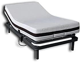 Ventadecolchones - Cama Articulada Reforzada Adaptator + Colchón viscoelástico Visco 5 y Mando con Cable Medida 90 x 190 cm