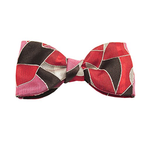 Van Buck England - Nœud papillon - Homme Rouge Red, Grey, Black and Pink Taille Unique